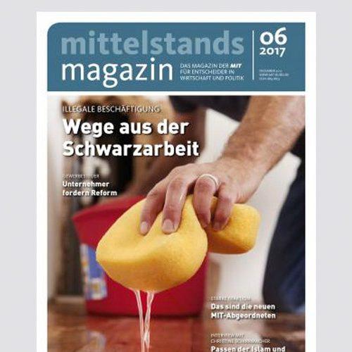 Mittelstands Magazin –Titel: Wege aus der Schwarzarbeit