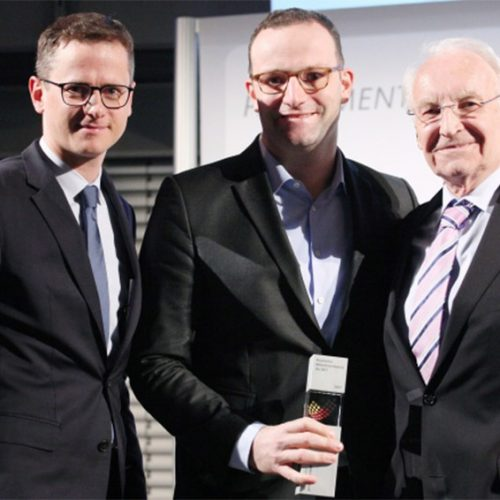 Carsten Linnemann, Jens Spahn und Edmund Stoiber